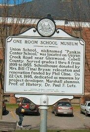 One Room School Museum - West Virginia Historical Markers on ...