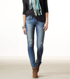 Any wash AE SKINNY Super Stretch jeans in size 8 {best fitting jeans EVER} $29.99 *on sale (I already have the black ones)