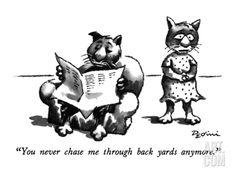 """You never chase me through back yards anymore."" - New Yorker Cartoon Premium Giclee Print by Eldon Dedini at Art.com"