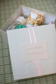 Baltimore-Themed Wedding Welcome Box