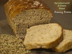 Sprouted Lentil & Grain Bread #healthy #grain #lentil #bread #recipe