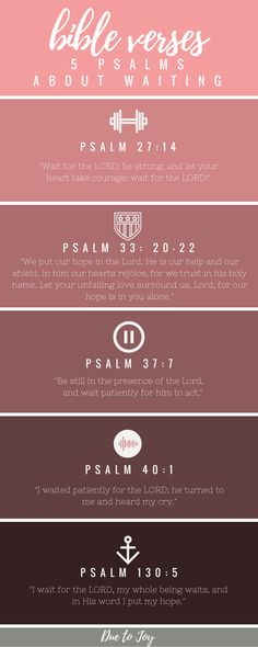 Bible Verses 5 Psalms About Waiting Due to Joy Blog
