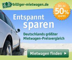 Unser Tipp: Hier sparen und mehr Geld übrig haben! Mietwagenpreise vergleichen auf Deutschlands größtem Mietwagen-Preisvergleich für z. B. USA Mietwagen Rundreisen.