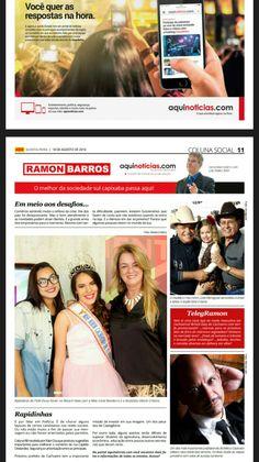 Edição Impressa Coluna Social Ramon Barros AQUI NOTÍCIAS