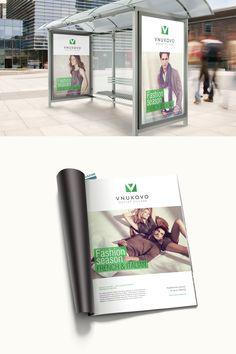VNUKOVO Outlet Village. Fashion logo. Identity. Shopping center. Advertising