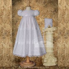 Baby Girl Size 6-12M White Venice Lace Christening Baptism Dress Gown. From #Little Things Mean A Lot. List Price: $99.00. Price: $87.99