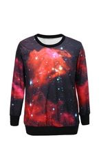 2014 Fashion Women Men Space print Pullovers Harajuku galaxy sweatshirts 3d Loose sweaters Hoodies top blouse Long Sleeve(China (Mainland))