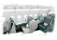 Aer Lingus interior by Factory Design