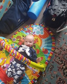 So proud of our Son who's 5 months old now. loves rolling around on the floor. #sahd #sahm #lifestyle #family #familylife
