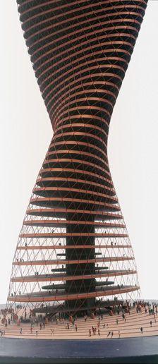 Spiral-Skyscraper, Model 1963/64, Conrad Roland