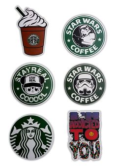 - Have fun with these Starbucks stickers on your Laptop, Stickerbomb, Vinyl, Vintage, Decal, Skateboard, Car, Bumper, Hoverboard, Snowboard, Helmet, Luggage, Scrapbooking, Party Favors... - Sticker si