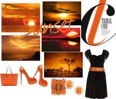 sunset, created by cristina1207 on Polyvore