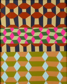 Barry McGee, Untitled (Three Geometric Patterns), (Barry McGee was Margaret Kilgallen's husband) Mosaic Patterns, Geometric Patterns, Textile Patterns, Abstract Pattern, Textile Design, Color Patterns, Print Patterns, Barry Mcgee, Graphic Artwork
