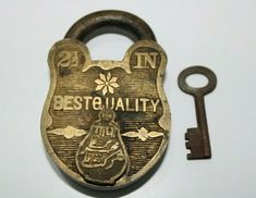 Knobs And Knockers, Padlocks, Key Lock, Old Antiques, Solid Brass, Antique Brass, Keys, Carving, Personalized Items