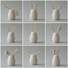 Wow, what a sweet Easter decoration idea! - # for - Wow, what a sweet Easter decoration idea!tok … – # for … – Wow, wh - Ceramic Animals, Clay Animals, Ceramics Projects, Clay Projects, Polymer Clay Crafts, Diy Clay, Paper Clay, Clay Art, Ceramic Clay