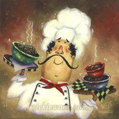 fat chef   Fat Chef   Vickie Wade Fine Art