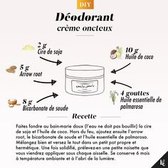 DIY : Déodorant crème onctueux - How To Clean Clams? Diy Deodorant, Diy Play Doh, Diy Beauty, Beauty Hacks, Palmarosa Essential Oil, Skin Care Routine For 20s, Homemade Cosmetics, Healthy Skin Care, Diy Skin Care