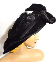 Dorothea's Closet is making me cry. ALL THE THINGS! Edwardian Velvet Hat,  I'm dying.