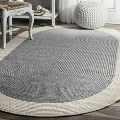 At nuLOOM we believe that floor coverings and art should not be mutually exclusive. Shape: OvalMeasurements: 72 Width/Inches, 108 Length/InchesFabric Content: PolypropyleneCare: Professional CleanCountry of Origin: Imported Crochet Rug Patterns, Crochet Mandala, Oval Rugs, Braided Rugs, Diy Carpet, Diy Sewing Projects, Carpet Design, Rugs In Living Room, Handmade Rugs