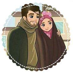 Cute Couple Images, Cute Couple Art, Cute Muslim Couples, Cute Couples, Couple Cartoon, Girl Cartoon, Girl Beach Pictures, Hijab Drawing, Beautiful Girl Drawing