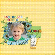 Created Using The Pre-K Digital Scrapbook Kit By Dandelion Dust Designs