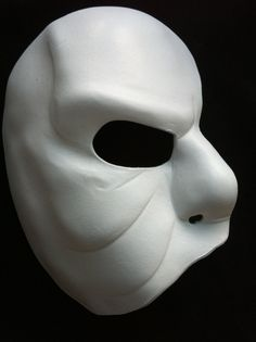 Phantom Of The Opera-Like Mask | White Leather Mask Phantom of the Opera Movie Theatre Opera Half Face ...