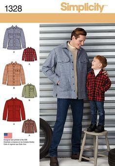 6d27c8e3cb0 Simplicity 1328 Boys  and Men s Shirt Jacket