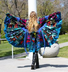 Recycled Sweater Coat with a Medieval Liripipe by SnugglePants, $290.00