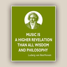 Beethoven Print Music Quote Ludwig van Beethoven by DigiMarthe, $13.50