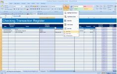 Bill Organization Excel - How to Create a Checkbook Register in Excel. Office Organization At Work, Bill Organization, Financial Organization, Organizing, Budget Tracking, Excel Budget, Budget Spreadsheet, Checkbook Register, Check Register