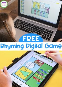 FREE Crayon Box Rhymes Digital Literacy Game