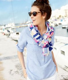 Nautical inspired neckwear.
