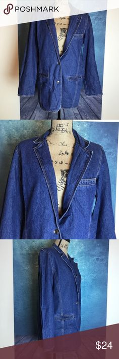 PHD Blue Denim Jacket Blazer Size M MEASUREMENTS∴ in inch  Pit to Pit>22 Shoulder to Shoulder>17 Length---->28  Measurements Are Approximate  And May Vary Slightly.  #4 phd Jackets & Coats Blazers