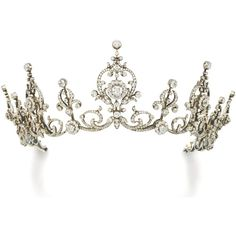 Diamond tiara/necklace, circa 1900 | lot | Sotheby's ❤ liked on Polyvore featuring tiaras, accessories, crowns, jewelry, hair accessories, filler, circle, circular and round