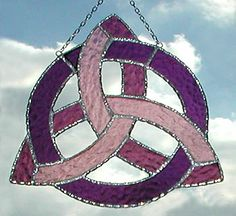 window suncatchers | ... - Celtic Designs in Stained Glass - Jewelry Boxes and Suncatchers