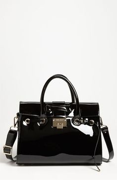 Jimmy Choo 'Rosalie' Patent Leather Satchel available at #Nordstrom