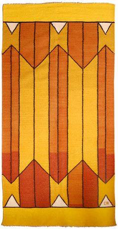 Title unknown, Geometric, 1965, handwoven wool. via Reform Gallery  http://www.midcenturia.com/