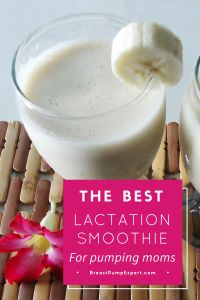 The best lactation smoothie for pumping moms. This lactation recipe will make a delicious smoothie packed with galactagogues (to boost milk supply). A must for breastfeeding or pumping moms, try this lactation smoothie to increase your milk production. Ingredients include galactagogue foods like oats and brewer's yeast.
