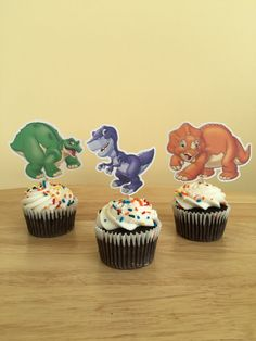 Adorable Dinosaur Cupcake Toppers by DianasDen on Etsy