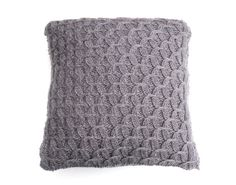 Purple Cushion / Throw Pillow - hand knitted- wool / mohair blend - textual pattern on Etsy, $74.34 AUD