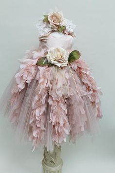 Victorian  Fairytale Feather Tulle and Silk  by ElenaCollectionUSA, $135.00