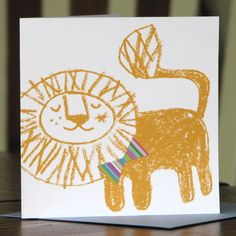 Leo Hand Screen Printed Card by Lil Sonny Sky