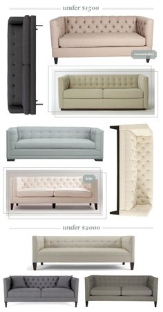 affordable tufted tuxedo sofas