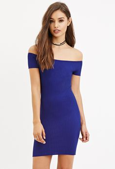 Off-the-Shoulder Bodycon Dress | Forever 21 - 2000186444