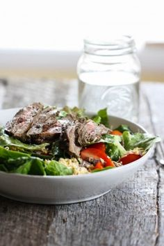 southwestern steak salad by Eat Live Run