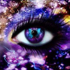 Eye butterflies, purple, colors, beauti, beauty, eye art, blues, purpl passion, eyes