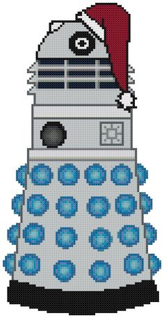 Christmas Dalek cross stitch pattern  http://www.etsy.com/shop/KatsCrossStitchery