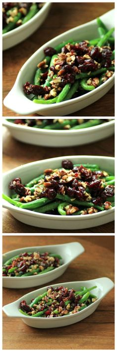 Green Beans with Pecans and Cranberries