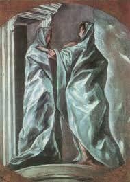 "artist-elgreco: "" The Visitation by El Greco Size: cm Medium: oil, canvas"" Spanish Painters, Spanish Artists, Catholic Art, Religious Art, Oil Canvas, Canvas Art, Canvas Poster, Creta, Free Art Prints"