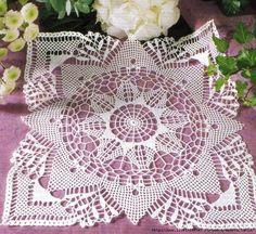 Very nice lacy square napkin